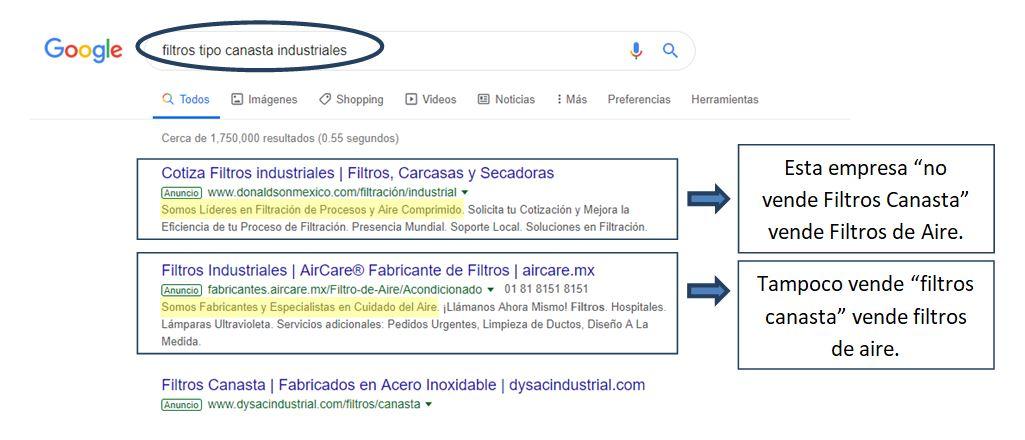 google adwords errores