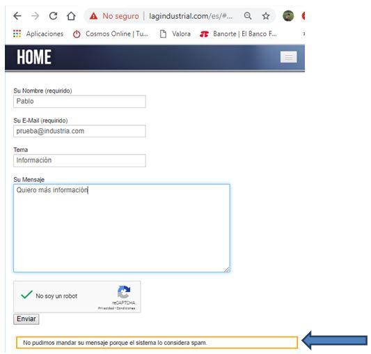 errores formularios
